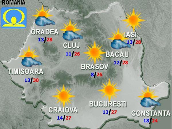 Harta meteo Romania